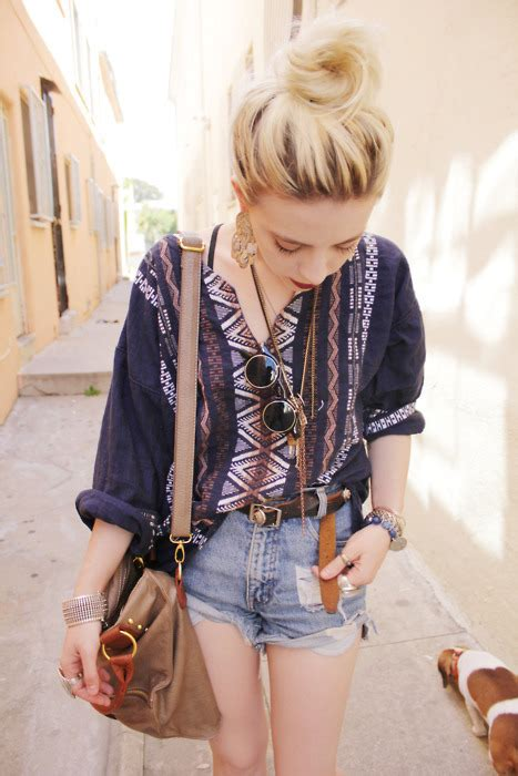 hipster hippie girl fashion skinny hipster chic vintage boho blonde retro