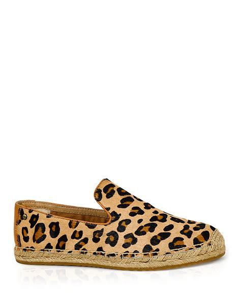 leopard shoes flats ugg ugg 174 australia flats sandrinne leopard print lyst