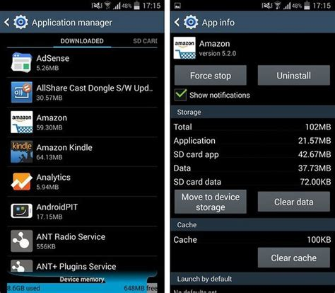 clear application cache samsung galaxy s4
