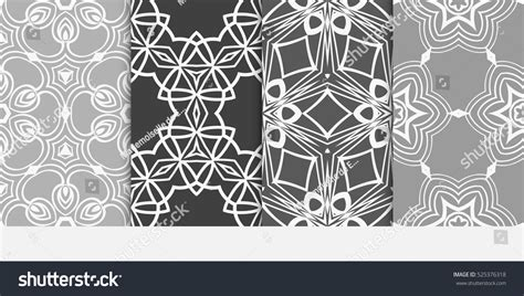 luxury floral pattern background vector set 05 vector set luxury floral ornament seamless pattern stock vector