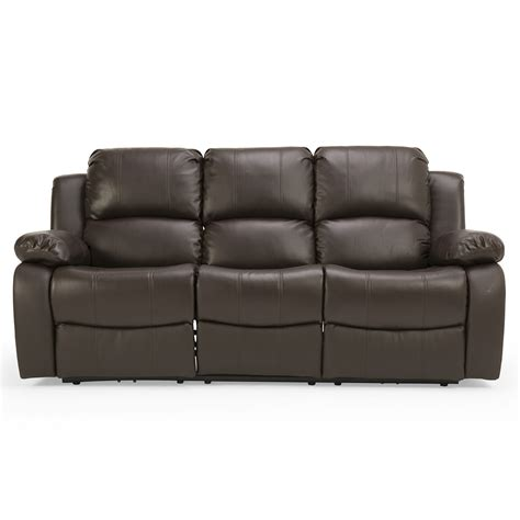 3 seater sofa leather glasswells girona 3 seater electric recliner sofa leather