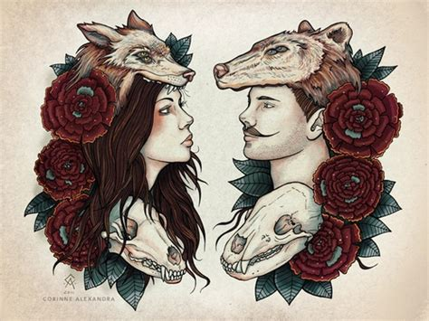 beautiful couple tattoos best 25 skull ideas on