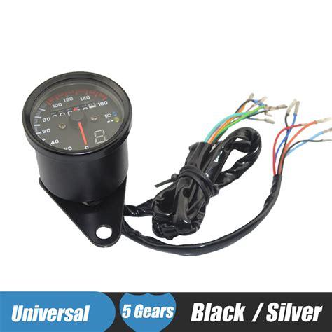 Spd Speedometer Custom Led 12v motorcycle speedometer odometer digital gear led backlit instrument 0 160km h