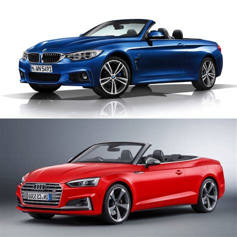 compare audi to bmw photo comparison bmw 4 series convertible vs audi a5 s5
