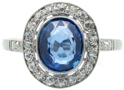 Blue Sapphire Ceylon Platina Ring deco platinum ceylon sapphire ring the