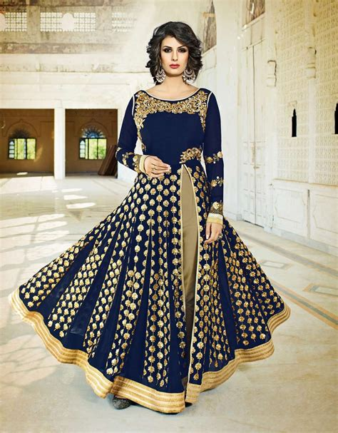 floor length anarkali lehenga shopping islamic dresses shopping blue floor