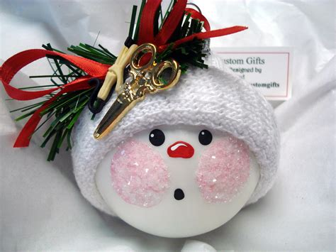 hair stylist ornament christmas handmade by