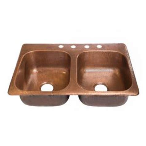 copper drop in kitchen sinkology raphael drop in handmade pure solid copper 33 in