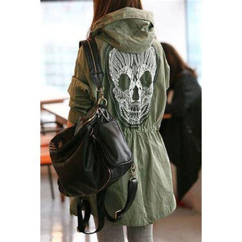 Jaket Longskull wholesale chic hooded sleeve skull pattern