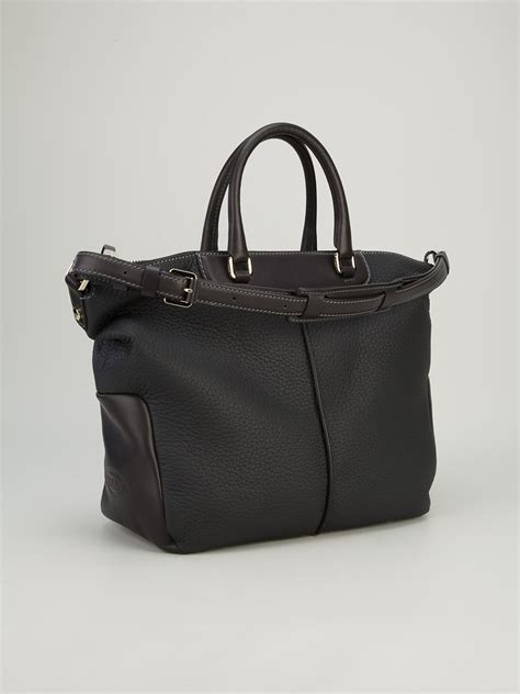 Tods Miky Media Bag by Tod S Miky Medium Bowling Bag In Gray Lyst