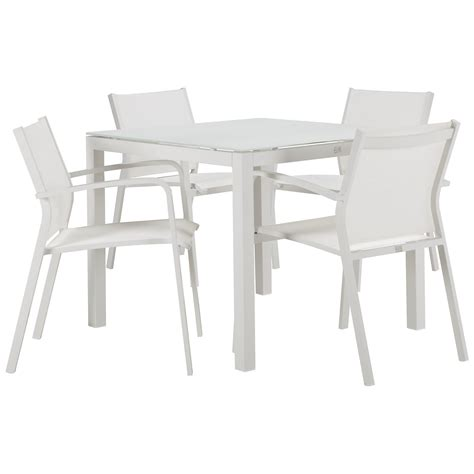 square table and chairs lisbon white 36 quot sq table 4 chairs