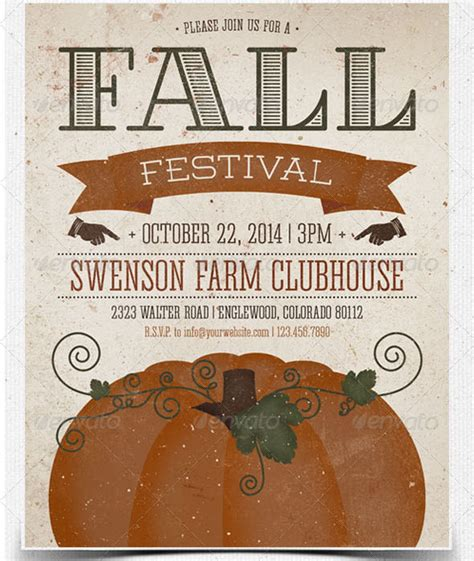 fall festival flyer template 22 beautiful postcard psd templates design freebies