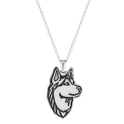 8 Necklaces To Give To Your by Qiamni 1pcs Dainty Handmade Siberian Husky Puppy Pet