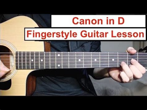 tutorial guitar canon in d canon acoustic guitar lesson vidoemo emotional video unity