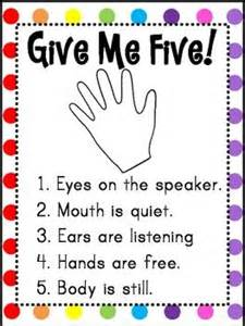Give Me 5 The House Give Me Five Poster Freebie In The Classroom