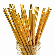 Gold Foil Solid Paper Straws ? Party SplendourParty Splendour