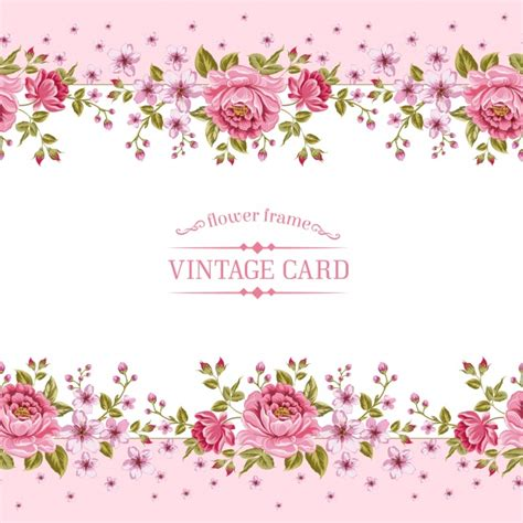 gold and pink flower cards template pink floral template vector premium