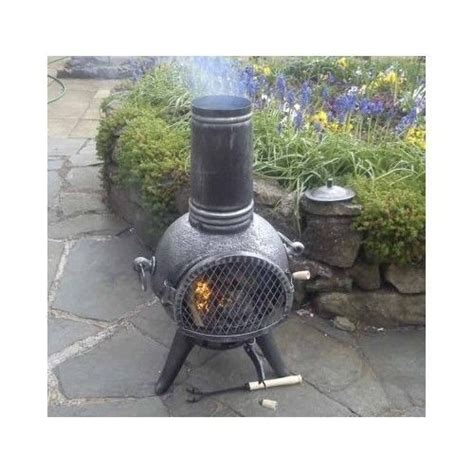Retro Chiminea by Cast Iron Chiminea Patio Fireplace Pit Garden Outdoor
