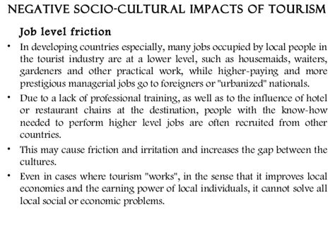 Positive And Negative Aspects Of Tourism Essay by Positive And Negative Aspects Of Tourism Essay