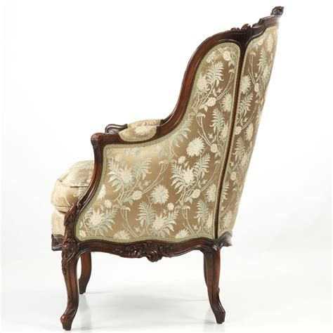 rococo armchair 19th century rococo revival antique bergere armchair in louis xv taste at 1stdibs
