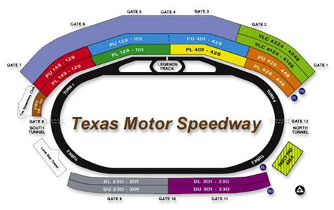 texas motor speedway parking map racing adventures seating chart texas motor speedway
