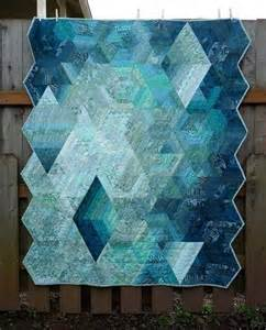 Modern quilt patterns contemporary blue quilt with geometric