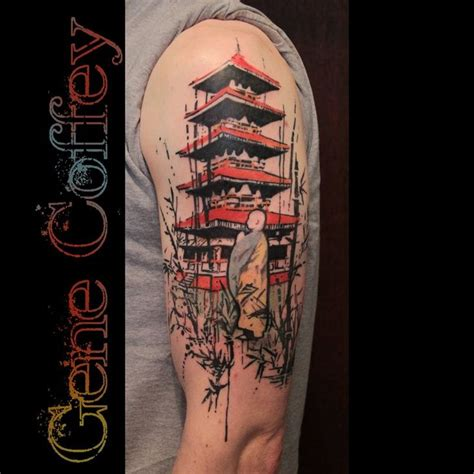 temple tattoo best 25 japanese temple ideas on asian