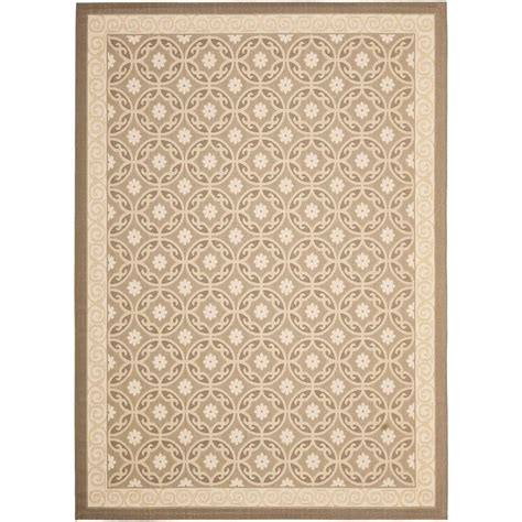 Outside Area Rugs Safavieh Courtyard Beige 8 Ft X 11 Ft Indoor Outdoor Area Rug Cy7810 97a21 8 The Home Depot