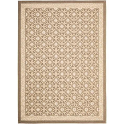 10 foot outdoor rugs safavieh courtyard beige 8 ft x 11 ft indoor outdoor area rug cy7810 97a21 8 the home depot