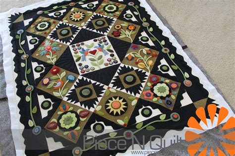 Quilting With Wool n quilt wool applique quilt