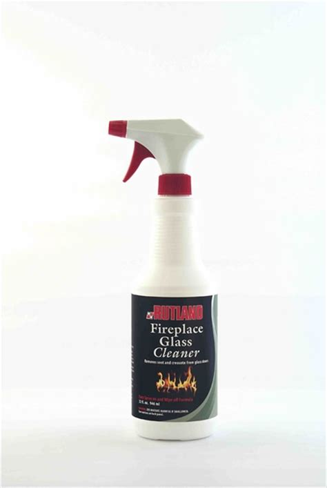 quart of rutland fireplace glass and hearth cleaner