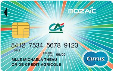 Plafond De Retrait Mastercard Credit Agricole by Cr 233 Dit Agricole Centre Detail Cartes Carte Mozaic