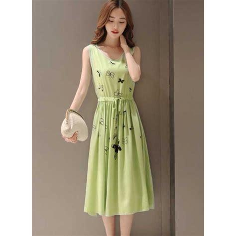 Fashion Wanita Dress Midi Dress D1603 Midi Dress D3635 Moro Fashion