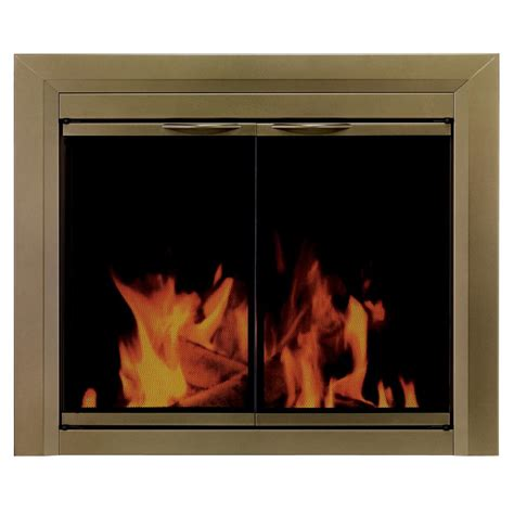 Pleasant Hearth Glass Fireplace Doors Pleasant Hearth Cahill Small Glass Fireplace Doors Ca 3200 The Home Depot