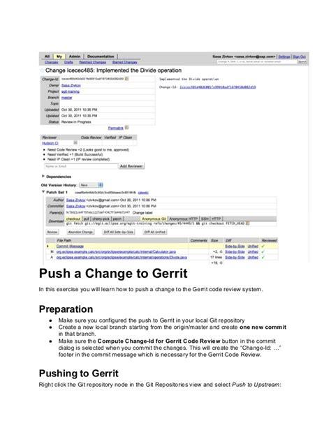 git gerrit tutorial git tutorial eclipsecon france 2014 gerrit exercise 3