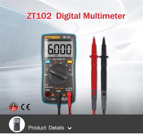 Avometer Digital Multi Tester Digital Auto Range Zt102 Oryginal Asli zoyi zt102 digital multimeter