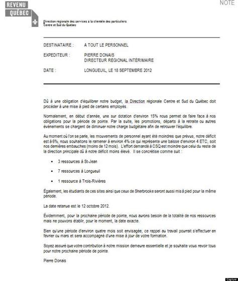 Modèles De Lettre De Démission Québec Sle Cover Letter Exemple De Lettre