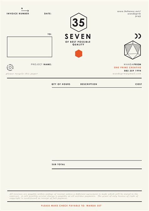 invoice template graphic design graphic designer invoice design studio design