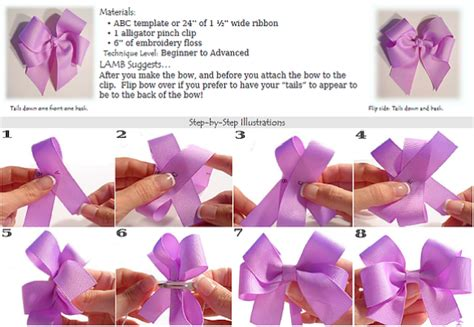 how to make hair bows written instructions how to make a tails down hair bow instructions