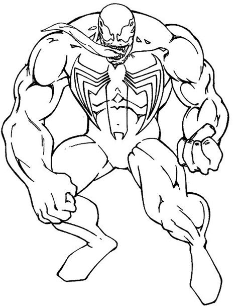 Spiderman Venom Consisting Of Great Coloring Pages Venom Coloring Pages