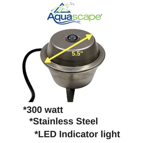 aquascape light calculator aquascape stainless steel de icer 300 watt
