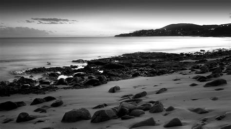Black and White beach wallpaper   HD Wallpapers