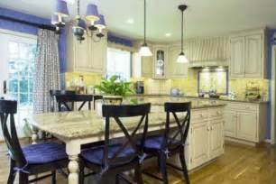 Yellow Kitchen Theme Ideas by French Country Kitchen Blue And Yellow The Interior