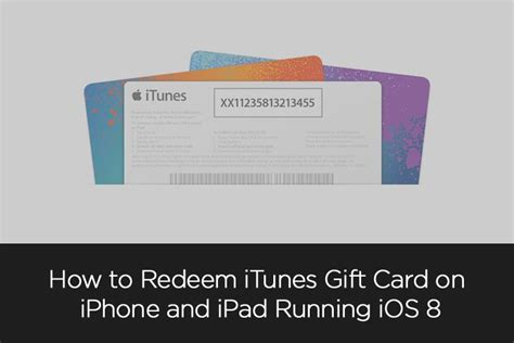 How To Redeem Gift Card On Ipad - how to redeem itunes gift card on iphone and ipad running ios 8