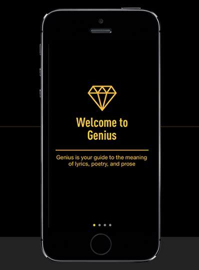 quot genius quot app is here genius