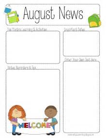 newsletter templates free printable the crafty august printable newsletter for all