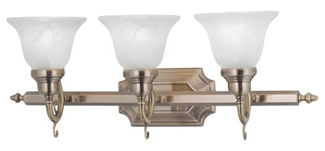 french bathroom light fixtures livex lighting antique brass french regency 3 light