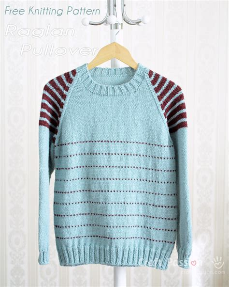 how to knit raglan raglan pullover free knitting pattern us232