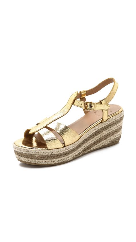 Marc Jabobs Sandals by Marc By Marc Metallic Espadrille Sandals In Gold Lyst