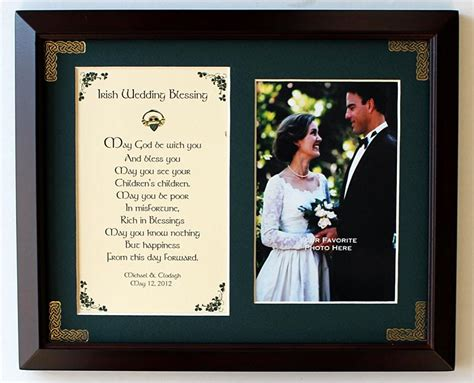 Wedding Blessing Verse by Personalized Wedding Blessing Photo Verse Framed